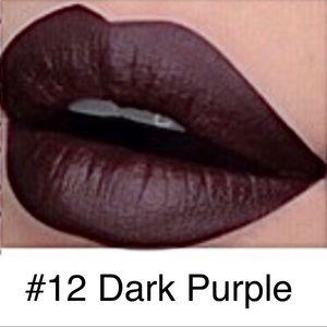 5/$25 NEW #12Dark Purple Metallic Lasting Lipstick